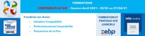 AT FORMATION - COMPTABILITE PAIE MON COMPTE FORMATION CPF SESSION AVRIL 2021 A DISTANCE