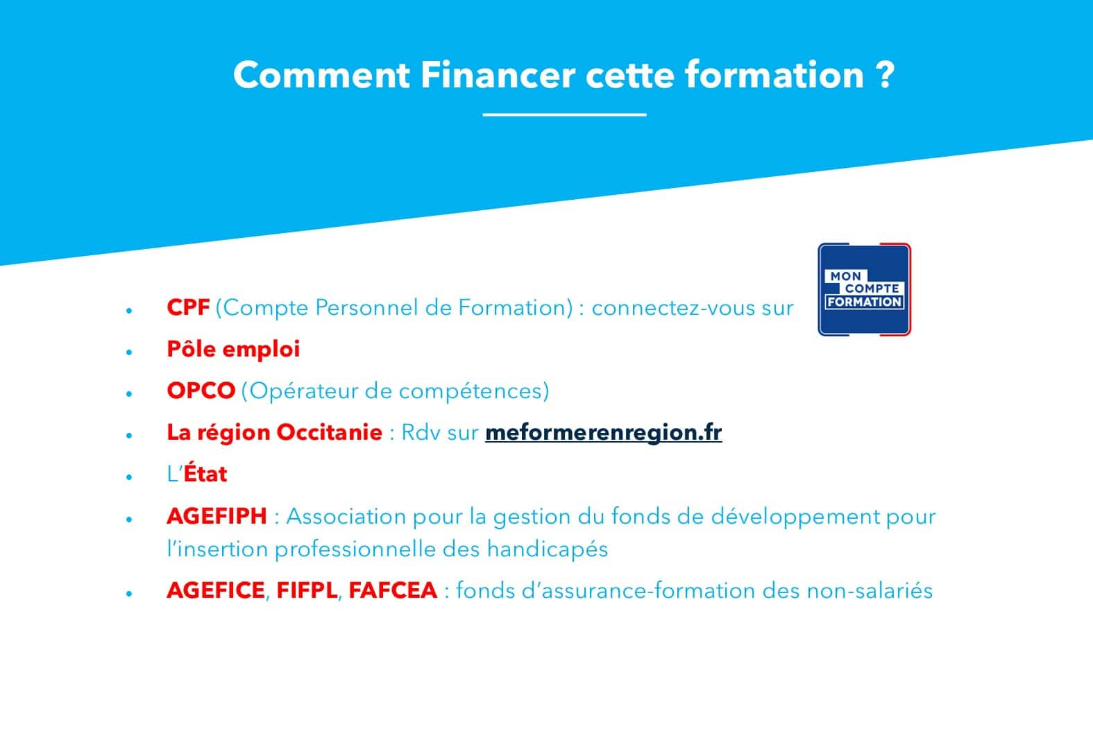AT FORMATION - COMMENT FINANCER UNE FORMATION