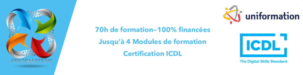 AT FORMATION - DISPOSITIF UNIFORMATION 2021 CERTFICATION ICDL