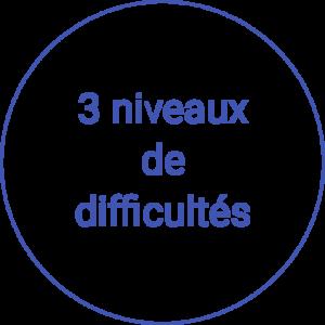 3 niveaux de difficultés