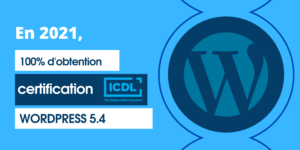 AT FORMATION - CERTIFICATION ICDL WORDPRESS - TAUX D'OBTENTION
